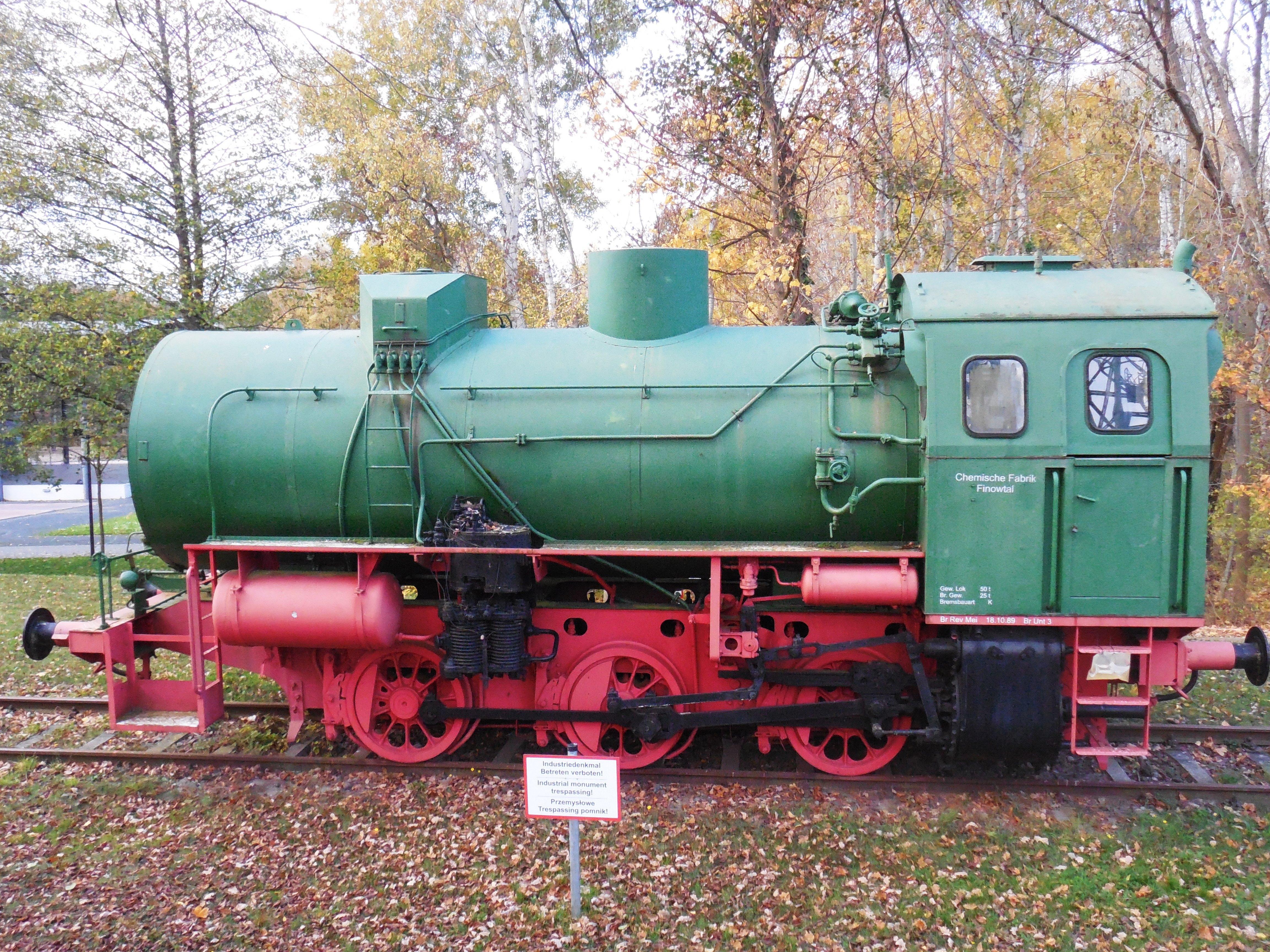 Dampfspeicherlok Eberswalde Familiengarten
