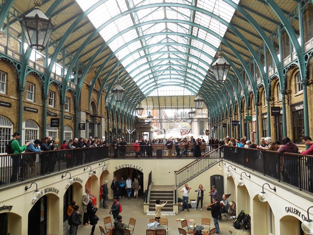 Covent Garden, London mit Kind