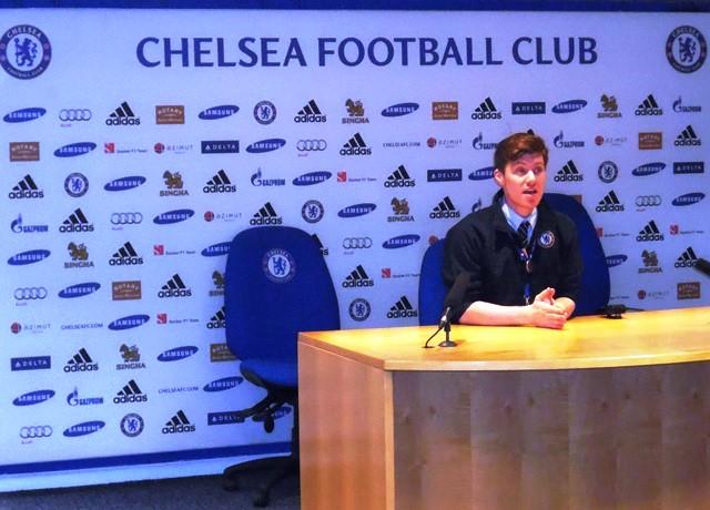 Chelsea Stadionführung_Presseraum
