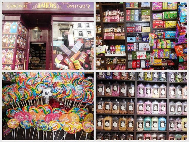 London mit Kind, Ludgate Hill candy-shop