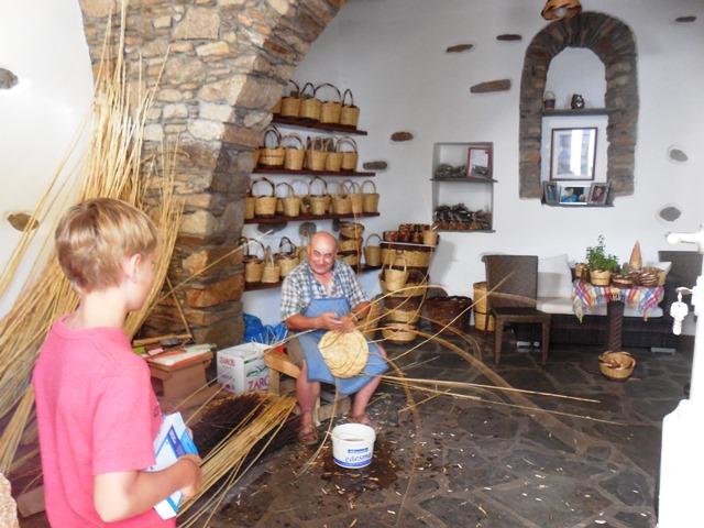 Korbmacher auf Tinos