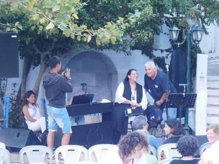 Maria Farantouri, Konzert auf Tinos