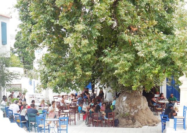 Platia in Pirgos auf Tinos