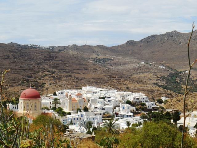 Marmordorf Pirgos auf Tinos