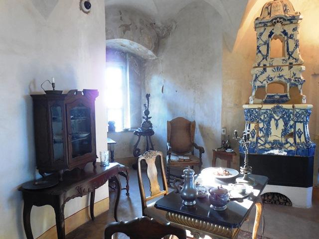 Wohnraum Gräfin Cosel auf Burg Stolpen