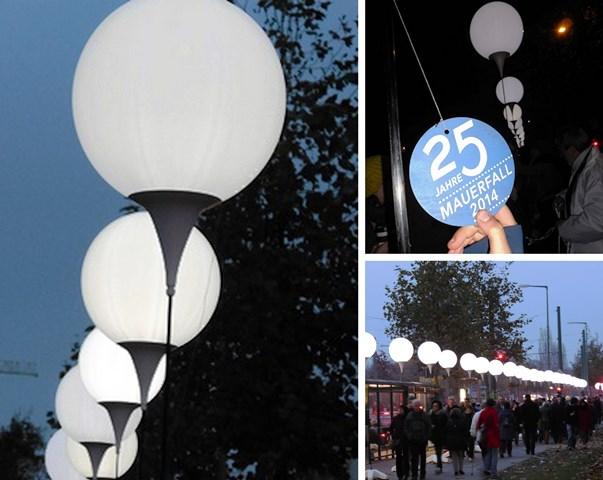 Lichtgrenze 25 Jahre Mauerfall