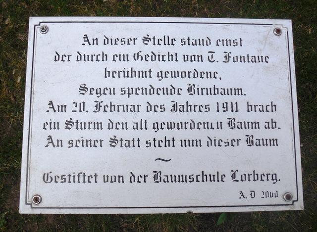 Birnbaum Fontanes in Ribbeck