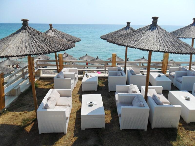 Strandbar bei Siviris_Chalkidiki