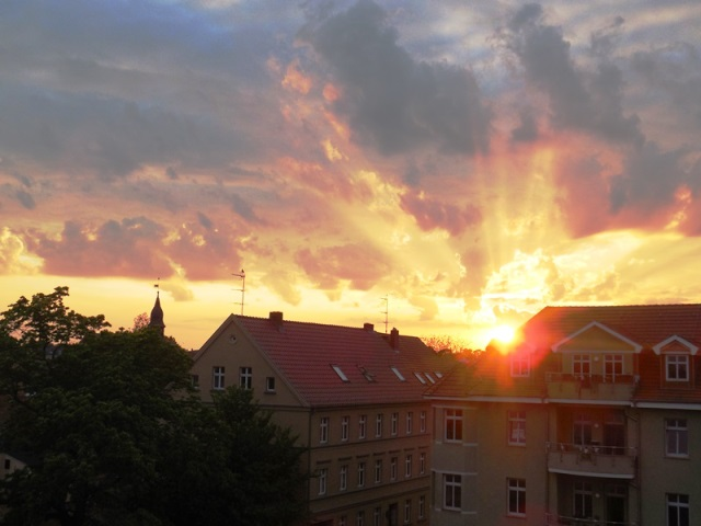 Neuruppin, Sonnenuntergang