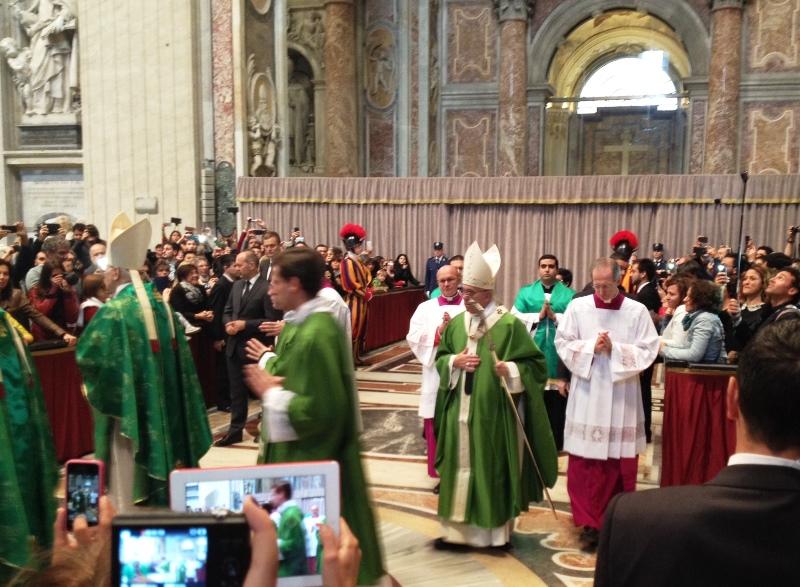 Papst_Franziskus_Sonntagsmesse_Petersdom