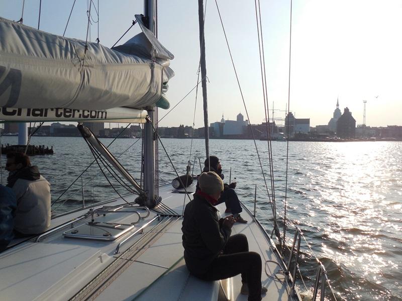 Segeltörn_Ostsee_Blick auf Stralsund