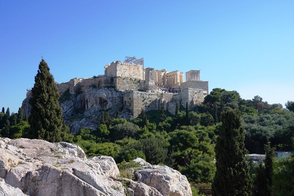 Athen_Blick auf die Akrópolis