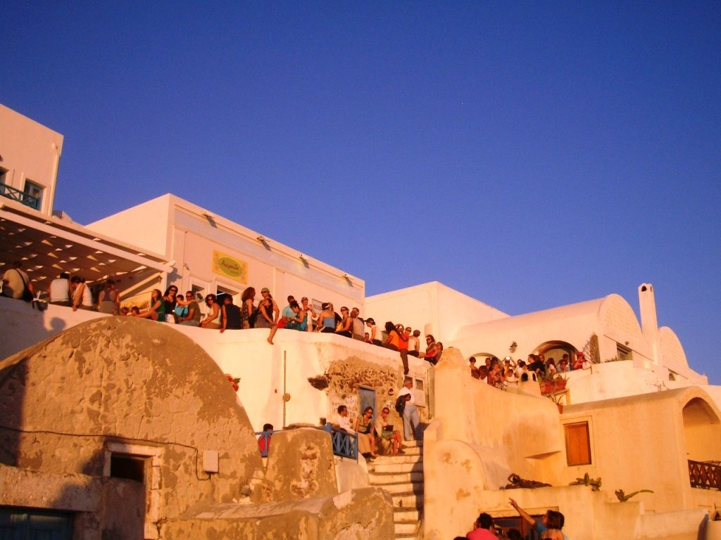 Sonnenuntergang_Oia_Santorini_Kykladen
