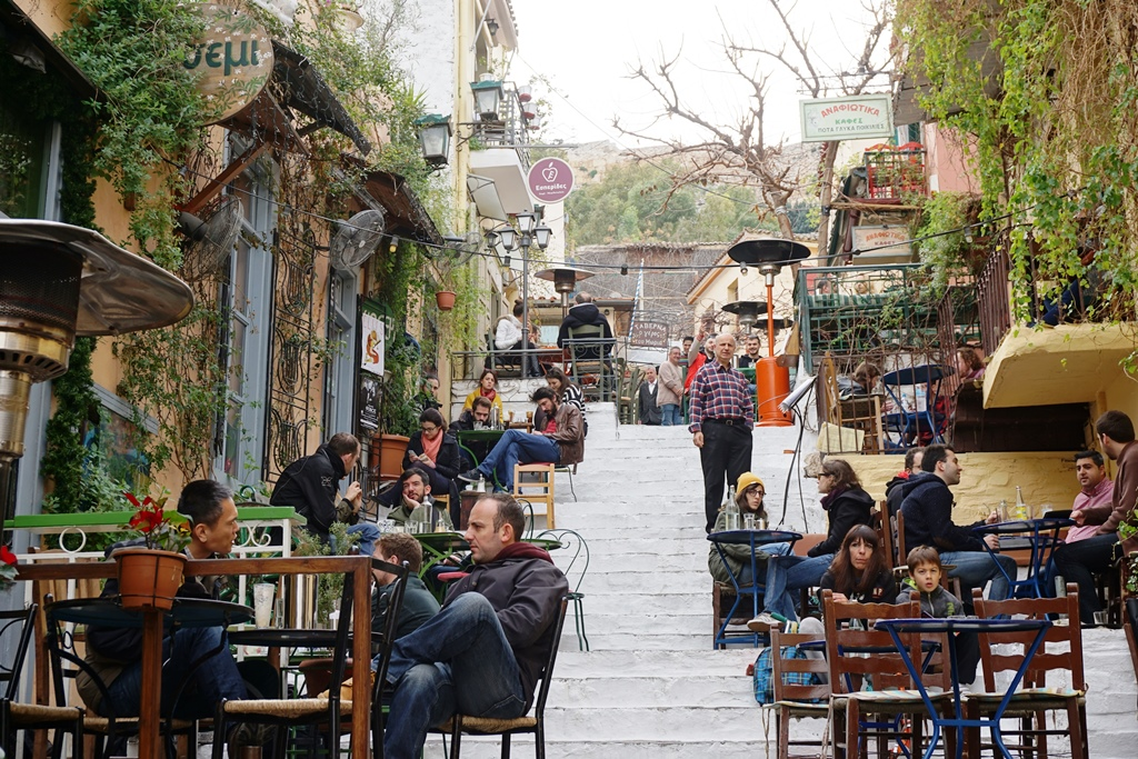 Athen mit Kind_Plaka