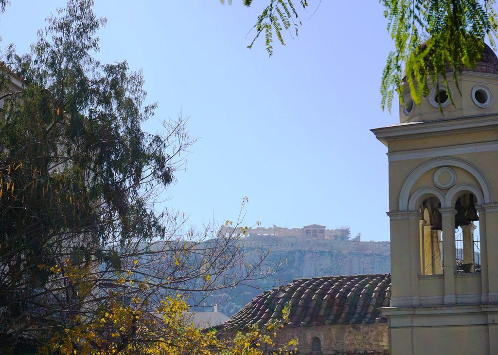 Athen_Blick auf die Akropolis