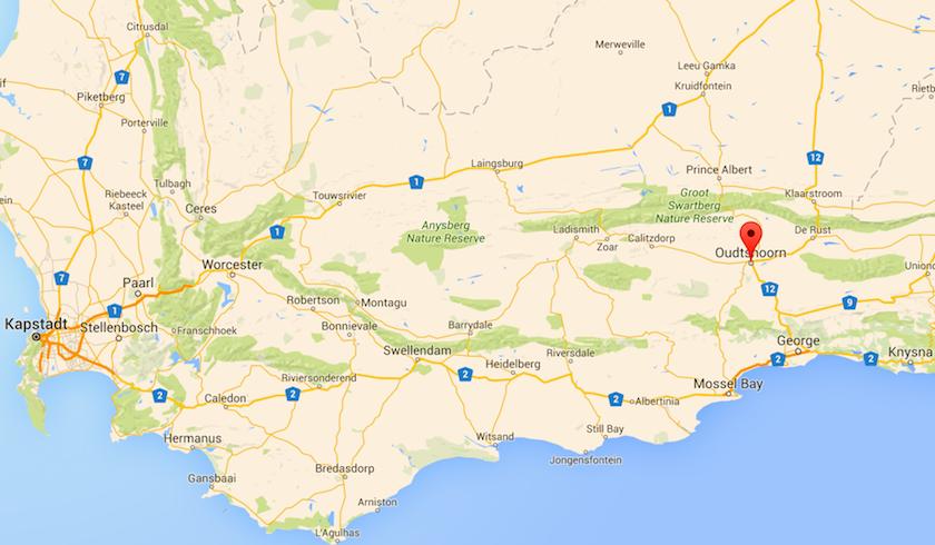 Oudtshoorn, Zentrum der Straußenzucht Südafrika