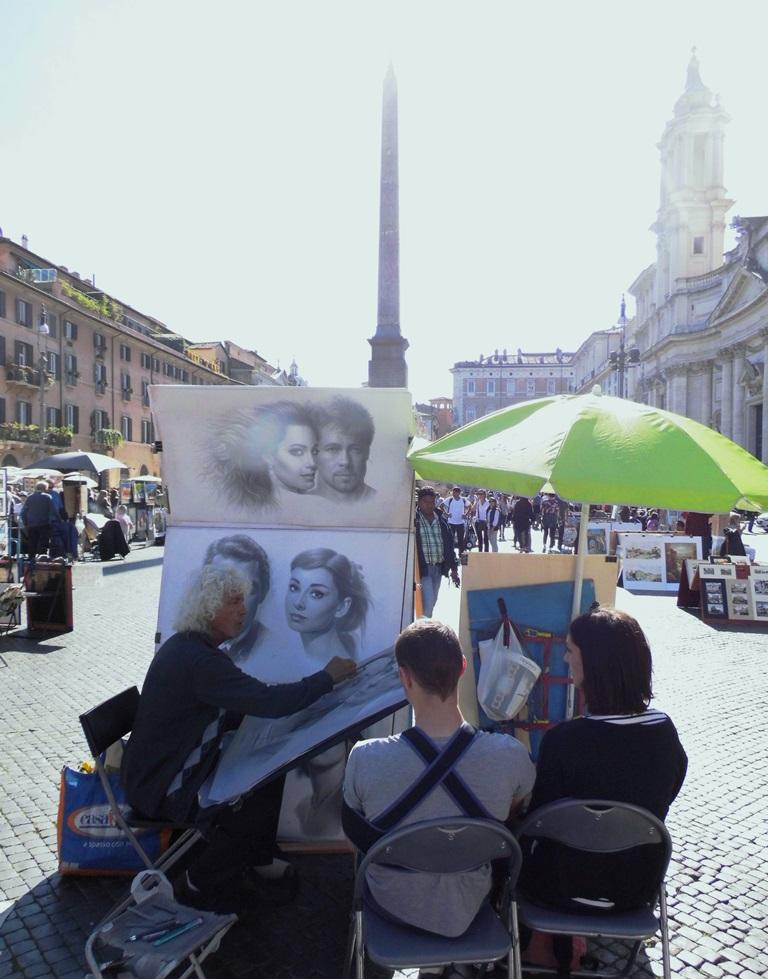 Piazza Navona Rom, Ein Herz und eine Krone