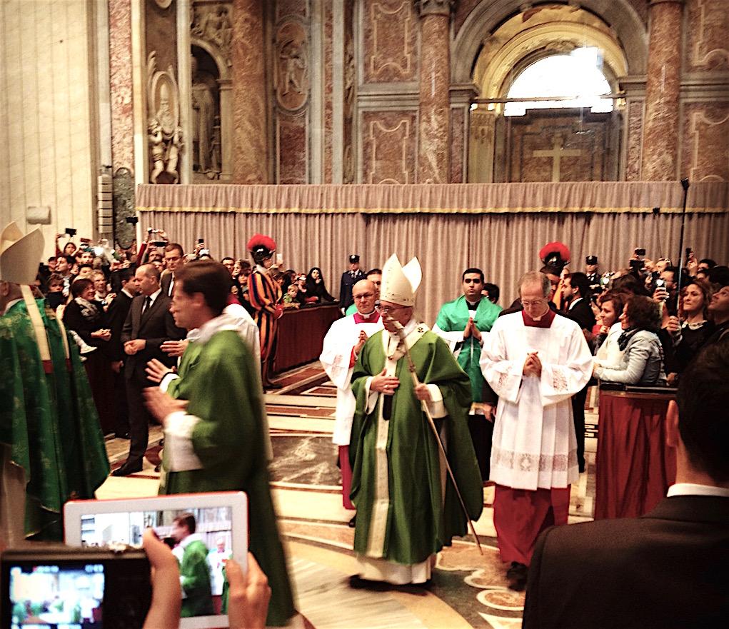 Vatikan_Sonntagsmesse_im_Petersdom_Papst Franziskus