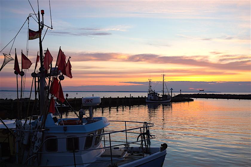 Timmendorf Strand, Poel, Hafen, Sonnenuntergang