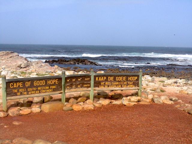 Am berühmten Schild Kap der Guten Hoffnung, völlig Touristenfrei