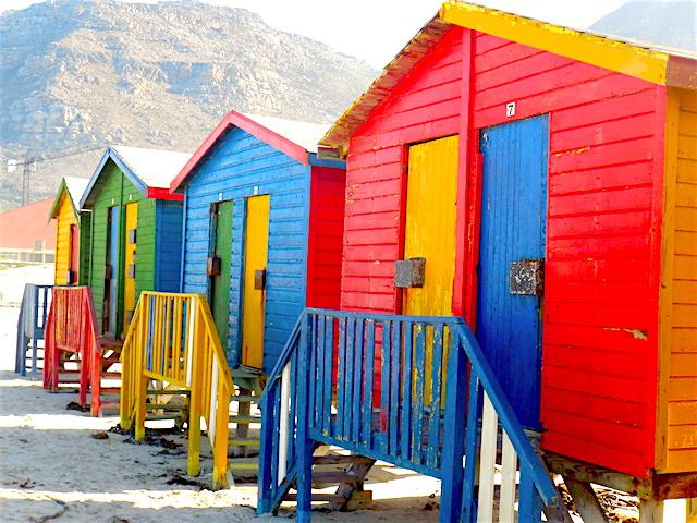 Muizenberg bunte Strandhäuser
