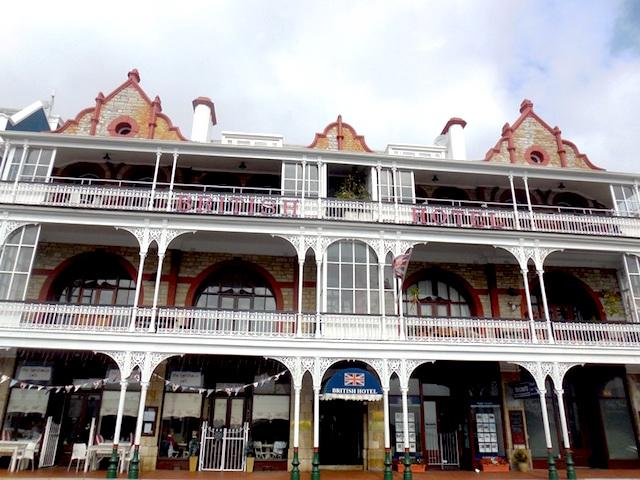 Viktorianische Häuser in Simons Town, Kap-Halbinsel
