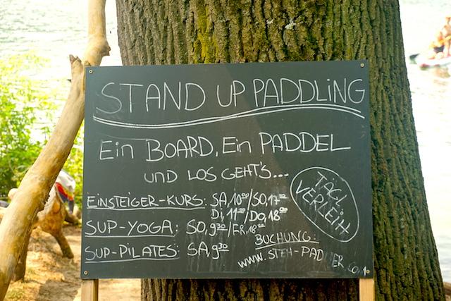 Stand Up Paddling Berlin Schlachtensee