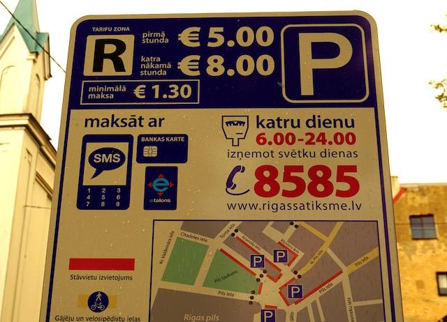 Hohe Parkkosten in Riga
