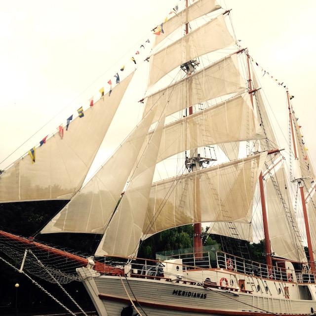 Segelschiff in Klaipeda, Ausgangspunkt Kurische Nehrung