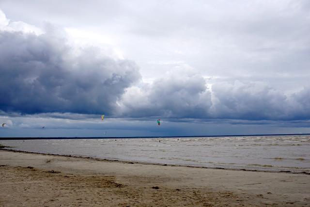Estland Sommerhauptstadt Pärnu, Ostseestrand