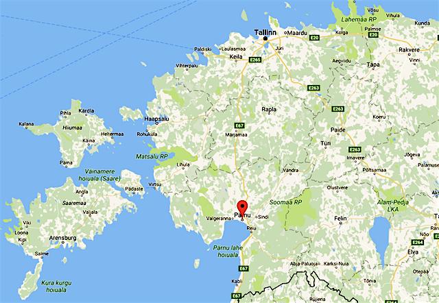 Estlands Sommerhauptstadt Pärnu, Lage
