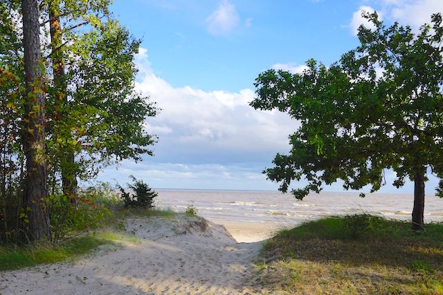 Estlands Sommerhauptstadt Pärnu, Ostsee Strand