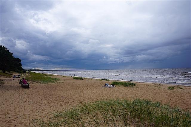 Strand in Pärnu, Sommerhauptstadt Estland