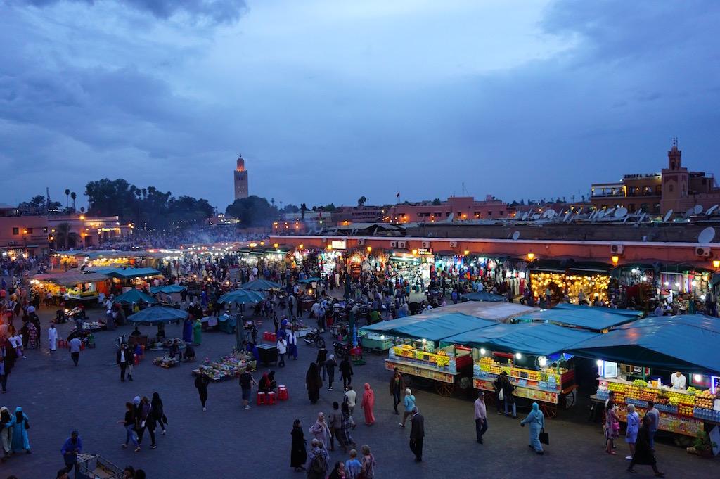 Marrakesch Reisetipps Nachtmarkt Jemaa el-fna