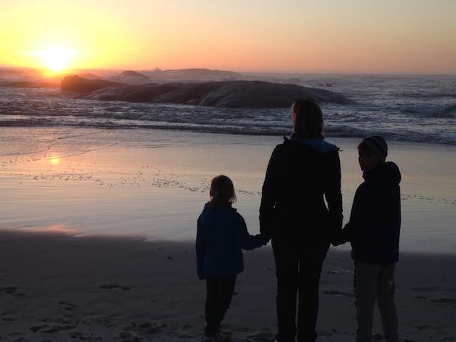 Kapstadt Sonnenuntergang am Strand