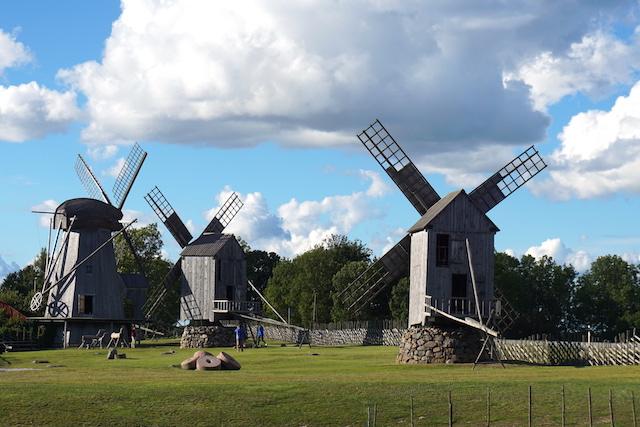 Saaremaa Estland, Wahrzeichen Windmühlen