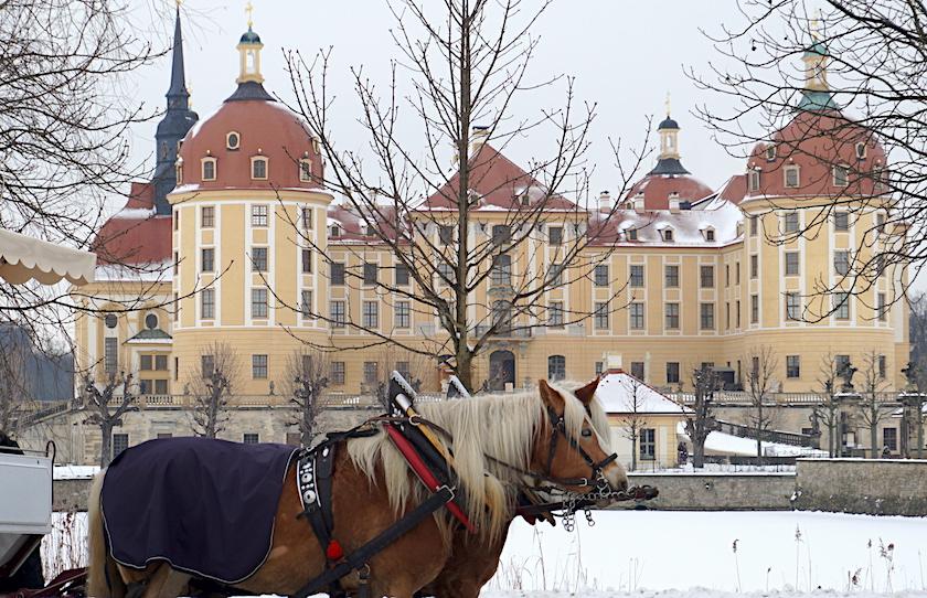 Schloss Moritzburg, Kutschfahrt, Drei Haselnüsse für Aschenbrödel