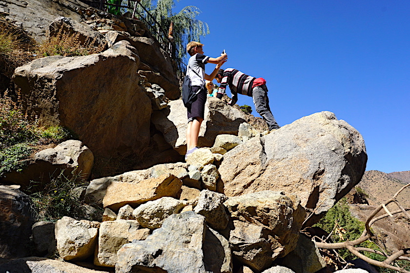 Asgaour-Wasserfälle im Ourika-Tal Marokko