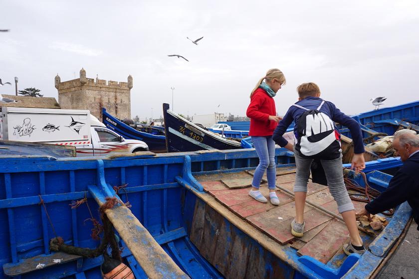 Essaouira Hafen, Marokko mit Kindern