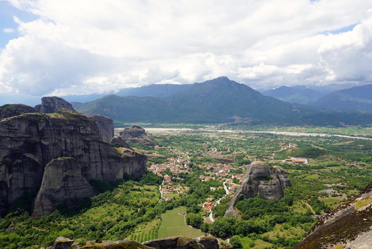Meteora, Blick auf Kalambaka, Kastraki