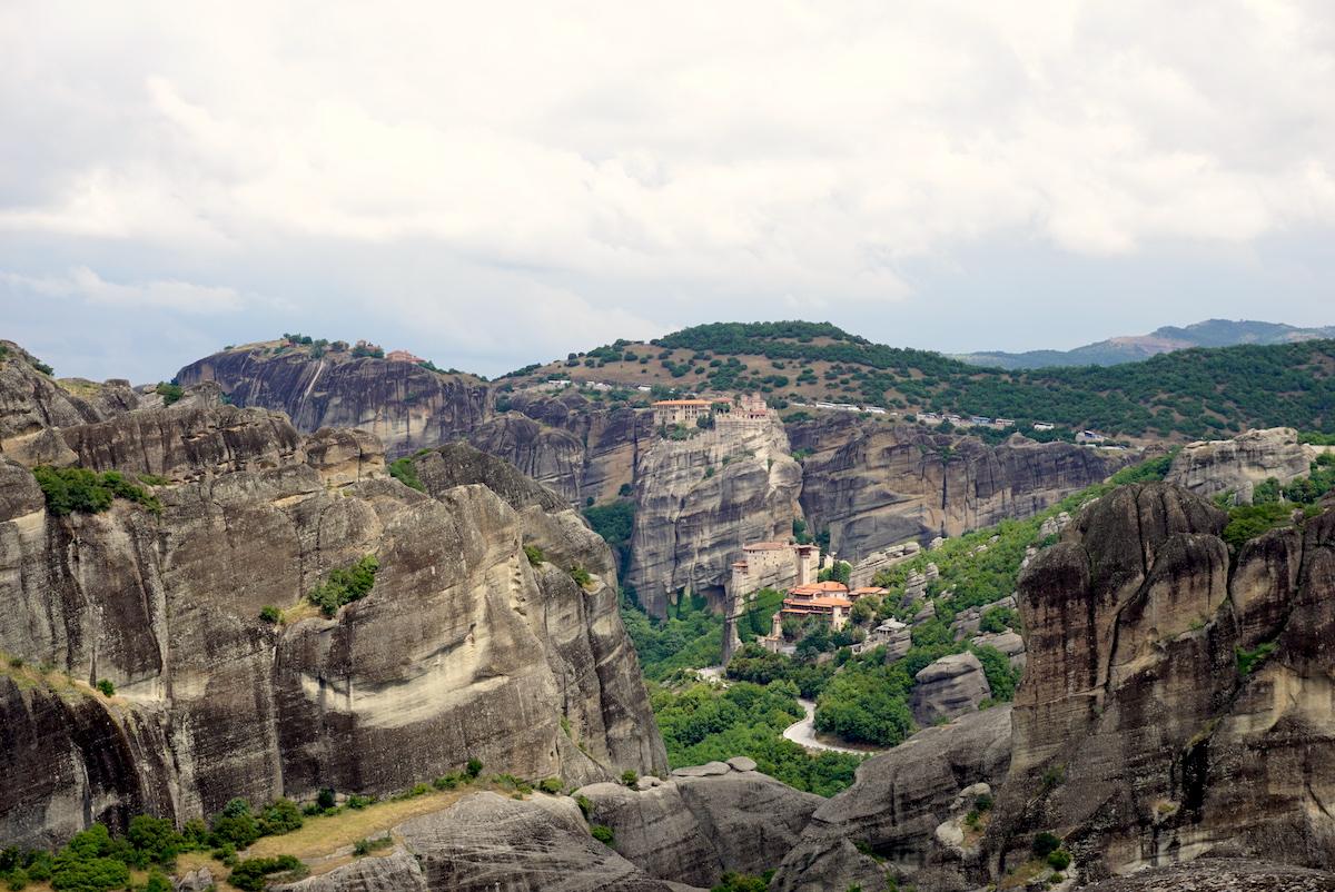 Meteora Blick vom Kloster Agia Triada