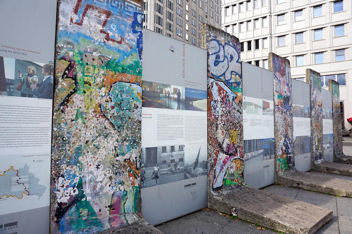 Berliner Mauer-Segmente am Potsdamer Platz