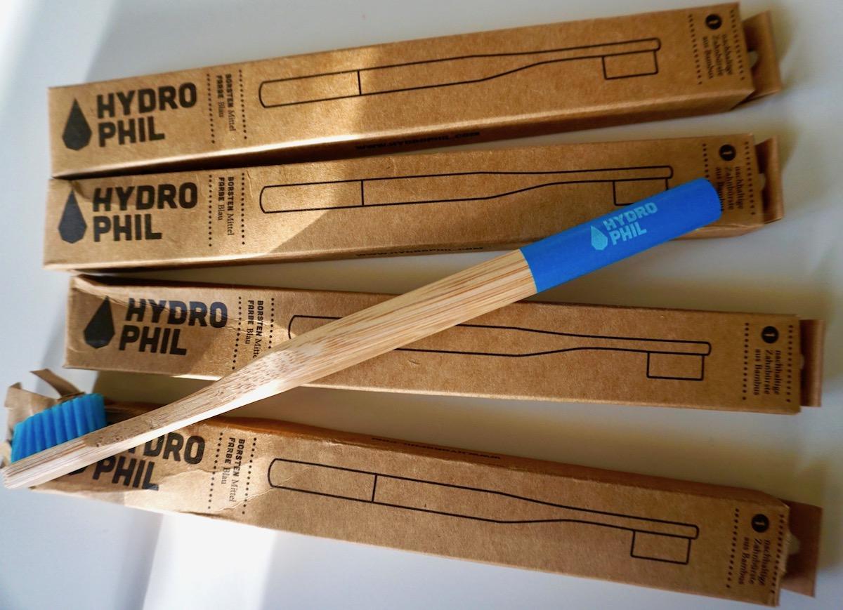 Alternative zur Plastikzahnbürste, Hydro Phil Bambuszahnbürste