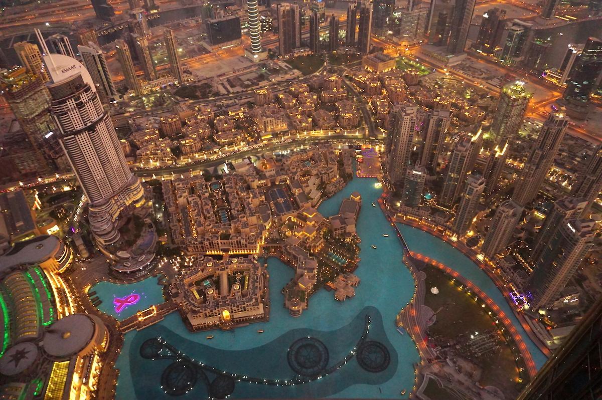 Dubai Down Town, Blick vom Burj Khalifa, Sundowner Tour