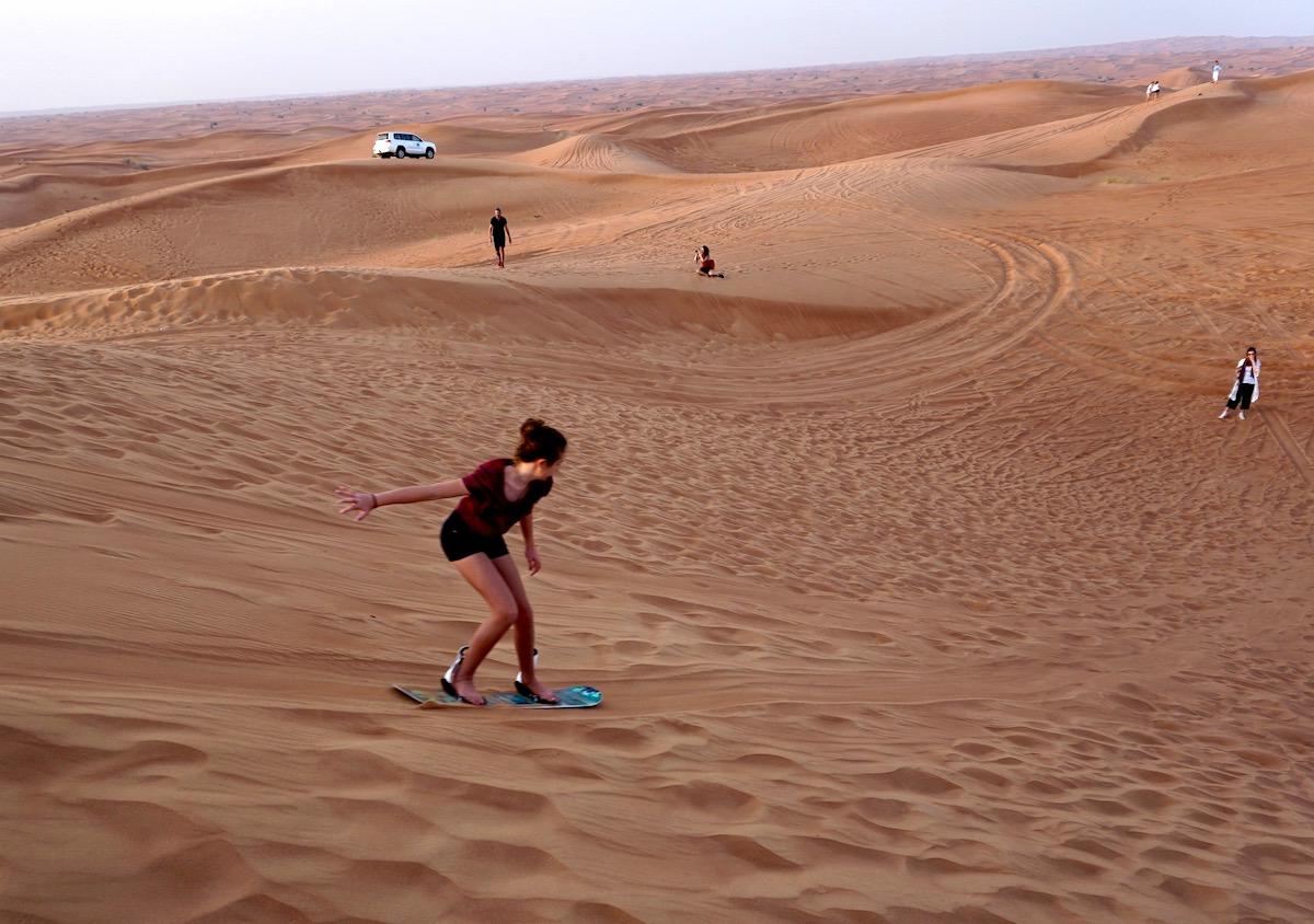 Dubai, Wüste, Sandboarding