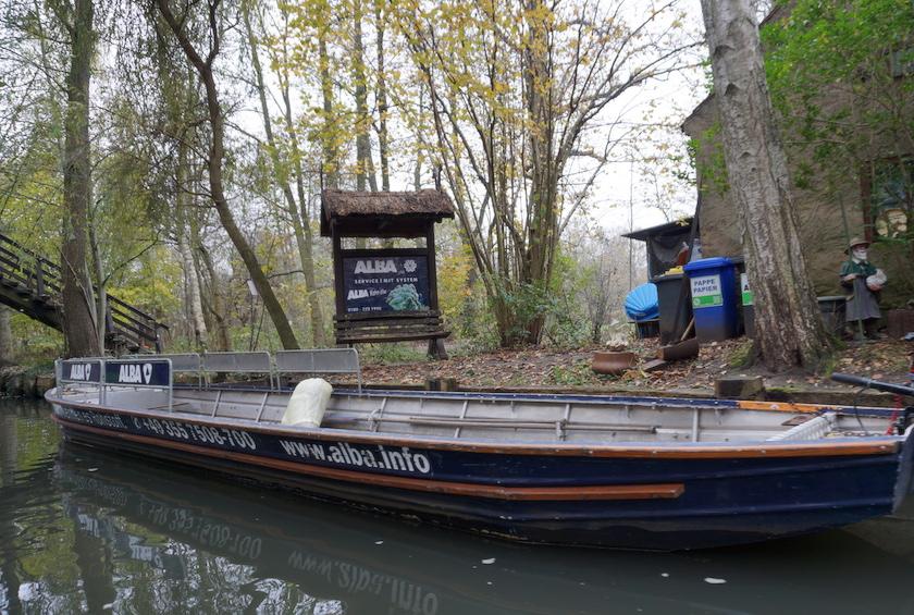 Spreewald Müllabfuhr übers wasser