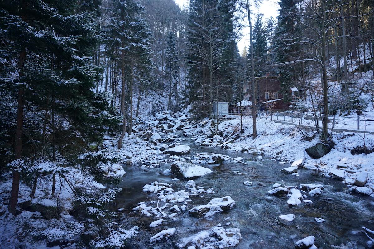 Riesengebirge Polen Winterurlaub, Kochelfall