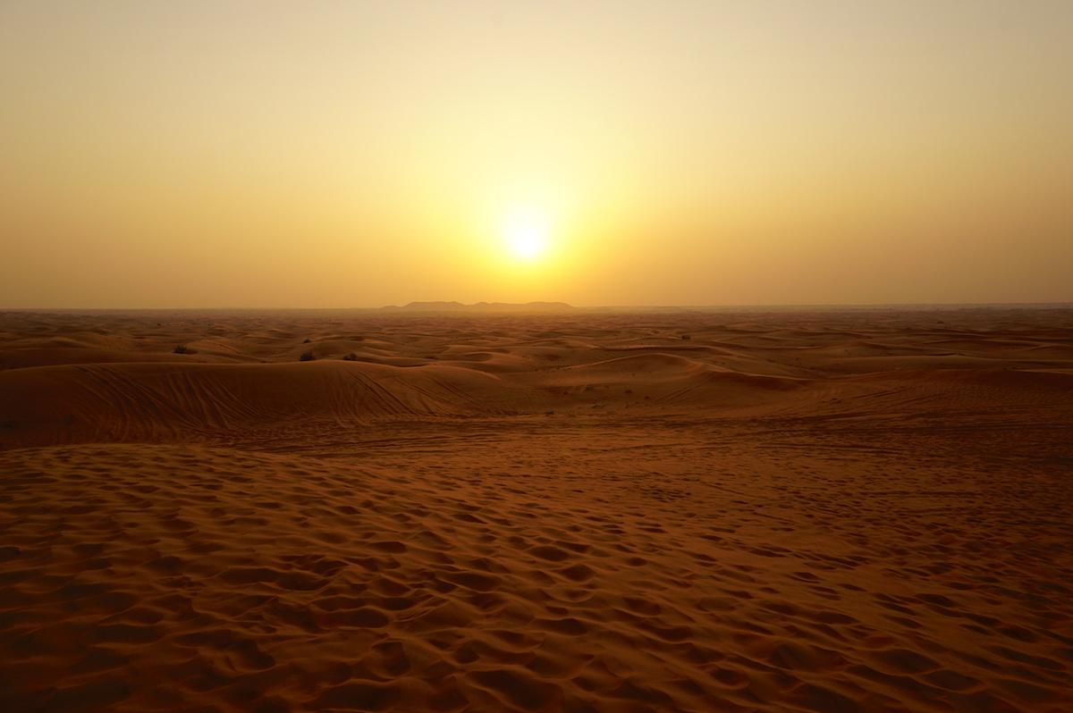 Wüstensafari Dubai, Sonnenuntergang