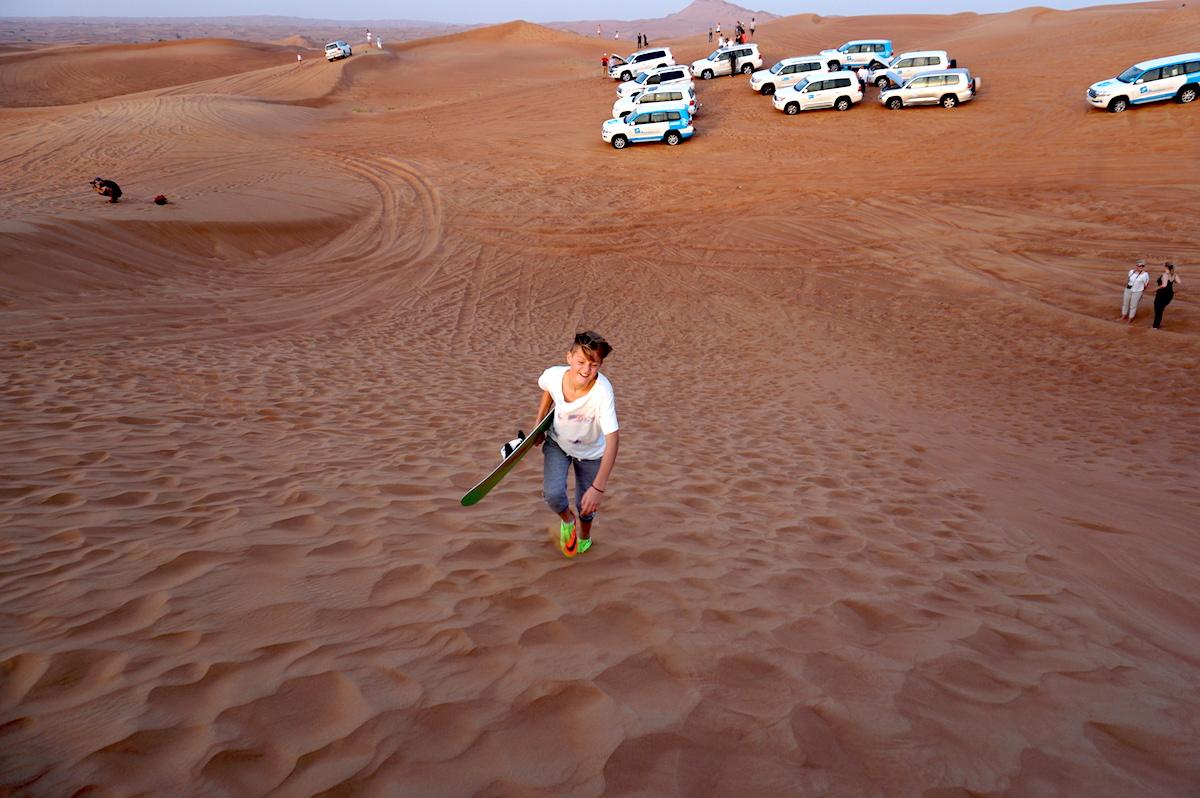 Wüstensafari Dubai, Sandboarden