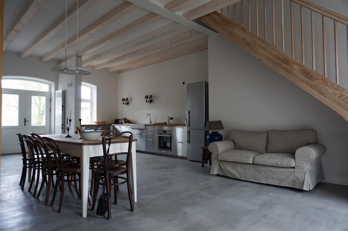 Ostseehof Langfeld Pommerby_Ansicht Küche_Essbereich